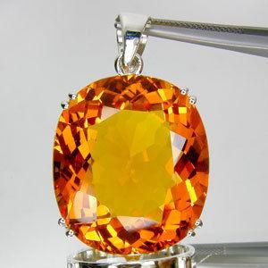 8960ctovalorangecitrenependantg citrine pendant from brazil aloadofball Choice Image